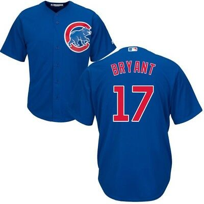 Kris Bryant Chicago Cubs #17 Alternate Blue Majestic Cool Base Stitched Jersey L