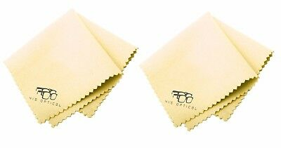 2 x Microfiber Phone Screen Camera Lens Laptop PC Glasses Square Cleaning Cloth