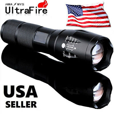 10000lumens Zoomable Tactical Military LED 18650 Flashlight Torch Lamp Light USA