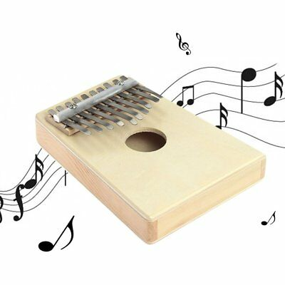 10 Key Finger Mbira Kalimba Thumb Piano Mini Pine Wood Percussion Instrument WQ