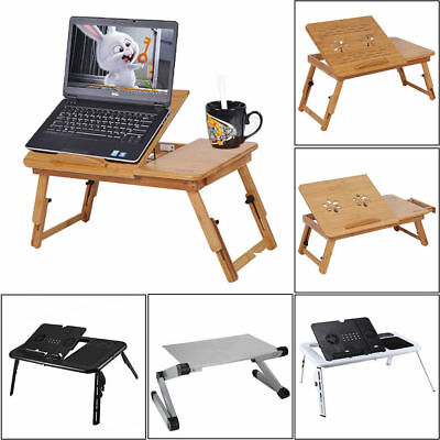 Foldable Laptop Table Tray Desk Stand Home Office Bed Sofa Notebook Computer Us
