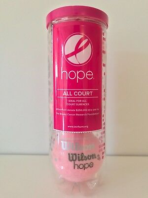"Wilson ""hope"" All Court Tennisbälle - pink - neu, in ungeöffneter 3er Dose!!!"