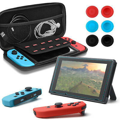 BEST BLACK Travel Storage Carrying Hard Case Compact Bag Cover F Nintendo Switch