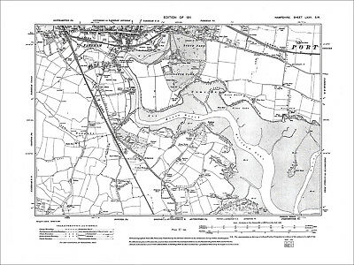 Fareham, Old Map Hampshire 1911: 75SW