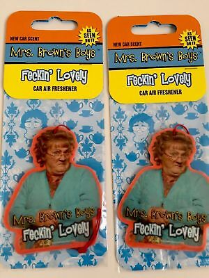 2-MRS-BROWNS-BOYS-car-Air-Fresheners-1st-Class-Postage