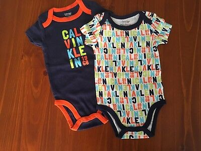 Calvin Klein 0-3 Months Rompers Growsuits One Piece x2