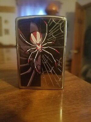 Spider High Polish Chrome Zippo Lighter Mint In Box