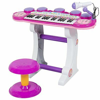 Best Choice Products Musical Kids Electronic Keyboard 37 Key Piano W/ Pink