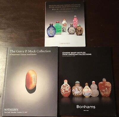 Lot of 3 Sotheby's Bonhams & Christie's Chinese Snuff Bottles Auction Catalogs