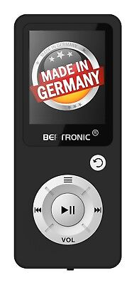 BERTRONIC Made in Germany BC04 MP3-Player - Schwarz - 100 Stunden