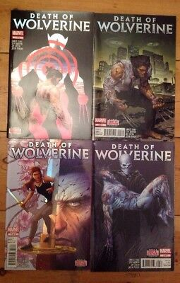Death Of Wolverine Marvel Comics Issue 1 2 3 4 Foil Covers