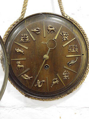 "Kienzle ""zodiac"" Art Deco Wall Clock ""heinrich Moeller"" Design ( Not Working )"