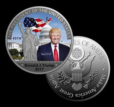 American President Donald Trump Silver Coin US White House Coin Collection nn
