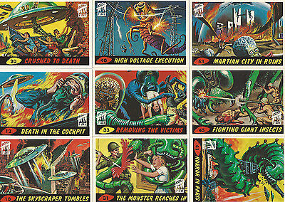 Revised! Mars Attacks! Archives 1994 First Day 10 Card Lot #2  Plus 2 Wrappers!