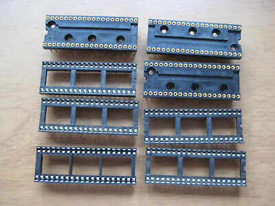 8 off 40 pin DIL DIP IC Sockets Holders
