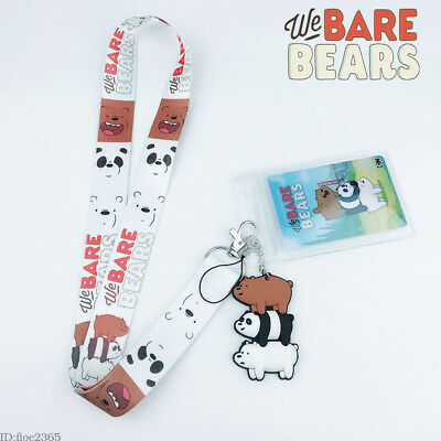 Cartoon We Bare Bears Lanyard Cell Phone Rope Neck Strap KeyChain For Fan Gifts