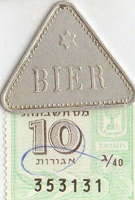 -1890 - 1914 - extrem RARE - *Jewish Star of DAVID  on  *german  BEER TOKEN