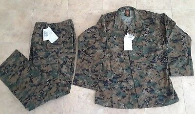 USMC MARPAT Uniform WOODLAND Combat Shirt & Pants