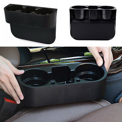 Car Seat Seam Wedge Dual-Cup Drink Holder Universal Auto Truck Mount Bag Storage