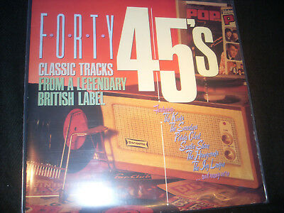 "12"" - D/LP-""FORTY""45's (Var.Artists)40 Classic Tracks British PYE Label (1988UK)"