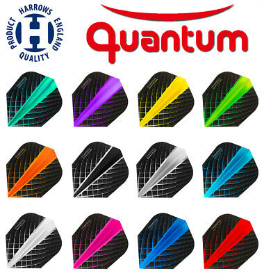 HARROWS QUANTUM Dart Flights Standard Form Top Neuheit 2018 100 Mikron 12 Farben