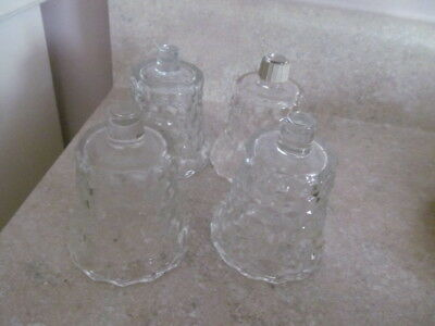 Home Interior / Homco Set Of 4 Clear Lady Love Votive Cups / Candle Holders
