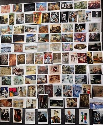 LOT OF 100 ART POSTCARDS OF 20th CENTURY MODERN ART PAINTINGS