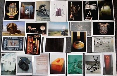 Lot Of 24 Postcards Of Modern Art Sculptures