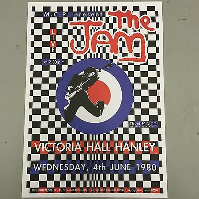 THE JAM - U.K. CONCERT POSTER  WEDNESDAY 4th JUNE 1980  (A3 SIZE)