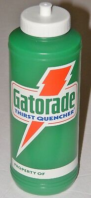Vintage Gatorade Thirst Quencher 1985 Plastic Athletic Squeeze Training Bottle
