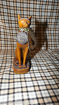 """AL-ASEEL Egyptian Cat Statue Resin Compound - Lovely Collectors Item 5.5"""" Tall"""