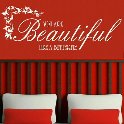 You Are Beautiful Inspirational Wall Quote Big Motivational Quotes Deco niq22