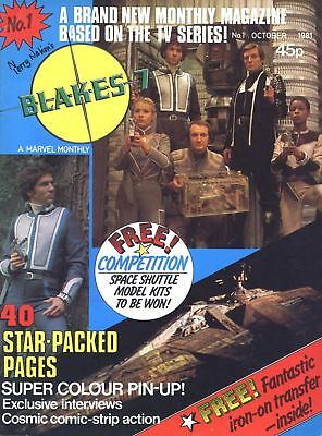 Marvel Uk Blakes 7 Complete Run Of Sci-Fi Mags On Dvd