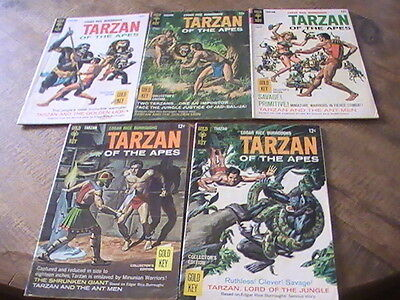 Tarzan of the Apes #172(gd),173(gd+),174(gd+),175(vg-),176(vg), of 5 Gold Key