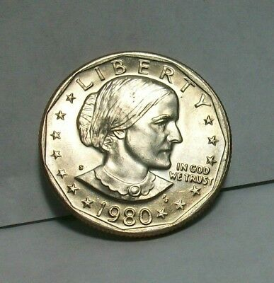1980-S Susan B Anthony Dollar Uncirculated