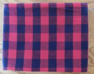 """Wool Flannel Fabric Red and Black Check High Quality Pendelton? 42"""" x 54"""""""