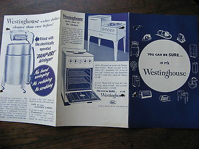 Westinghouse Aplliances Pamphlet