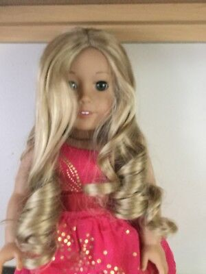 Blonde Wavy/curly American Girl Doll Wig sold as (sold as-is)see description
