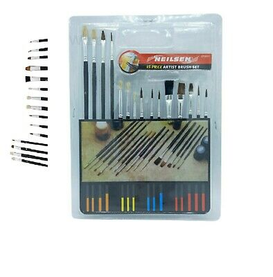 12 Artists  Paint Brushes Pointed Fine Detail Bristle Airfix Model Pottery Craft