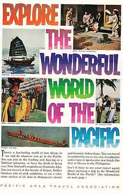 1963 Pacific Area Travel: Wonderful World of the Pacific Vintage Print Ad