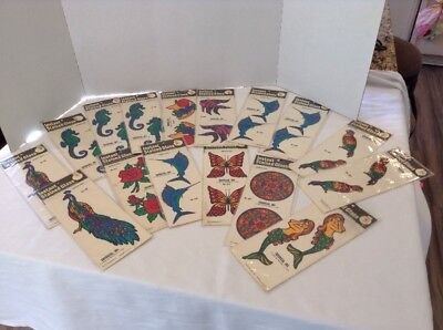 Lot of Vintage 1977-78 Decoral Inc. Instant Stained Glass New York