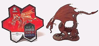 Heroscape Rise of the Valkyrie Mimring - 1 Dragon Figure + Stats Card - 2004
