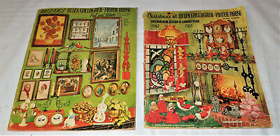 2 Vintage 1962 - 1963 CHRISTMAS Winter Catalogs HELEN GALLAGHER FOSTER HOUSE