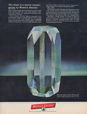 1961 Western Electic: The Stone Is a Quartz Crystal Vintage Print Ad