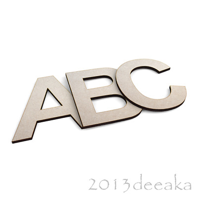 WOODEN LETTERS & Numbers Arial Bold Font Alphabet Letters & Numbers, 4mm  Thick
