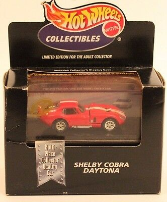 Hot Wheels 1998 1970 Shelby Cobra Daytona Chrome Limited Edition Car NEW