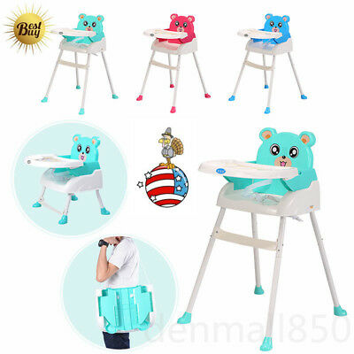 4in1 Portable Baby Cute High Chair Toddler Table Seat Booster Feeding High Chair