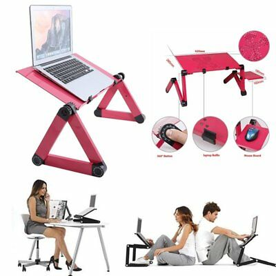 Adjustable Folding Laptop Desk Table Stand Bed Tray For PC Notebook Computer AP