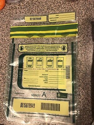 "SafeLOK G73709C Tamper-Evident Deposit Bags Security 9""x12"" 25ct"