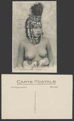 Algeria Old Postcard Ouled Nails, Native Girl Woman Lady, Costumes Hat L.L. 6524